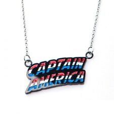 Captain America Lettering - Stainless Steel Quality Pendant with Chain Necklace