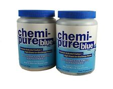 2 pack Boyd Chemi-Pure Blue 11oz Aquarium Filter Media Treats 75 Gallons each