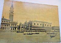 Vintage 1955 Postcard General View of Venice  Black & white True Photo