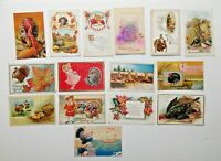 LOT OF 15 THANKSGIVING  GREETINGS ANTIQUE  POSTCARDS