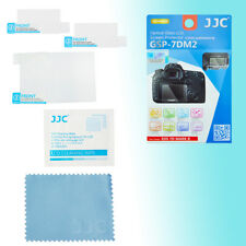 Canon 7D II 9H Hard Tempered Glass LCD Screen Protector Top & Back JJC GSP-7DM2