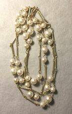 """Vintage Pearl Necklace ~  50"""" from End to End ~ G.P. Spacers"""