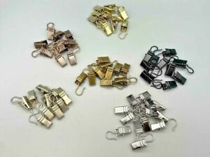 15 Pinch Clips Alligator Metal With Net Wire Hooks For Curtains Photos Hanging