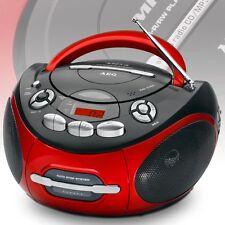 Hi-Fi Stereoanlage CD-Player Radio UKW tragbar Kassettenradio rot Kinder Anlage