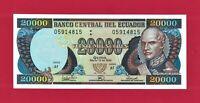 VEINTE MIL SUCRES 1999 - UNC ECUADOR 20,000 SUCRES NOTE (P-129g.1) PRINTER: BCdE