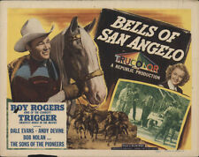 "16mm film =""Roy rogers""=""BELLS OF SAN ANGELO""==53=MINUTES=B-W=2= 14 INCH REELS"