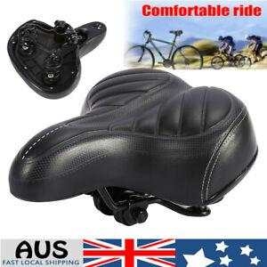 Wide Bum Bike Seat Bicycle Saddle Sporty Gel Cruiser Extra Comfort Soft Pad AUS