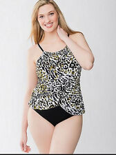 Magicsuit by Miraclesuit Lisa Cougar One-Piece Swimsuit Plus Size 20W NWT