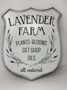 "Shabby Chic Country Farmhouse ~ Lavender Farm Wall Hanging 16"""