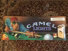 Joe Camel Camel Lights Pool Hall Poster Sign 49�x18� Heavyweight Plastic Stock