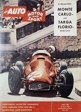 Poster Auto Motor und Sport 11/58 24.5.58 1958 Replica Monoposto Rennwagen