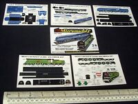 1954 Vintage Original Micromodels Set M2 2/6d LMS & SR Streamline Locomotives.