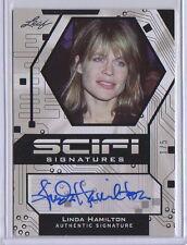 Leaf Pop Jahrhundert Sci-Fi Linda Hamilton Autogrammkarte Terminator Sarah Conor 1/5