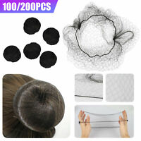 100/200PCS Invisible Hair Net Hairnets Elastic Edge Mesh Sport Bun Cover Snood
