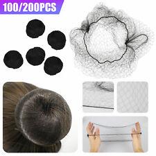 100/200PCS Invisible Hair Net Hairnets Elastic Edge Mesh Sport Bun Cover Snood
