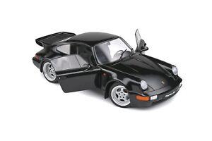 1:18th PORSCHE 911 964 TURBO diecast model road car Black 1990 SOLIDO 1803404