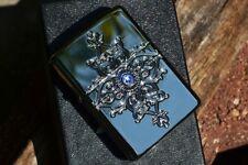 Zippo Lighter - Ornamental Metal - Swarovski Crystal - Armor Case - 34592