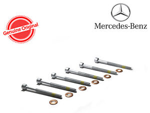 A10 6x Mercedes Benz Holder Bolts + Elring Injector Shims Washers CDI 0049902812