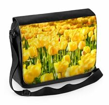 Yellow Tulips Laptop Messenger Bag -  Flowers Floral