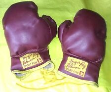 Vintage Kid's SUGAR RAY ROBINSON Sport Fun BOXING GLOVES Lace Up JAPAN