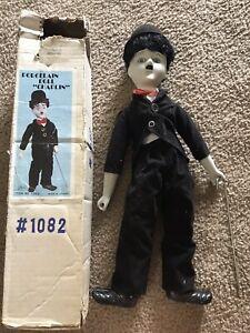 "Vintage Porcelain Charlie Chaplin Celebrity Doll ""The Little Tramp"" 17"" Tall"
