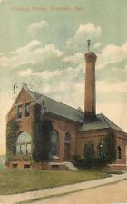 c1907 Printed Postcard; Pumping Station, Roslindale MA Suffolk County Posted