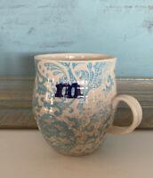 ANTHROPOLOGY Coffee Tea Mug Cup Initial 'm' Homegrown Floral Decor