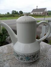 Broadhurst England Ironstone Riviera Shape Kathie Winkle TeaPot San Tropez White