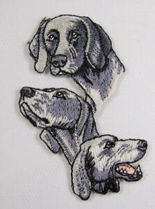Weimeraner dog heat seal embroidered badge