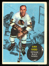 1961-62 TOPPS HOCKEY #25 ELMER VASKO EX+ CHICAGO BLACKHAWKS CARD