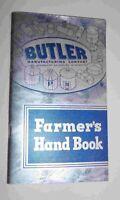 Farmer's Handbook By Butler Manufacturing Company- 1942