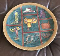 "Oklahoma Importing Co 10.5"" Saddle Boots Cowboy Stirrups Decorative Plate"