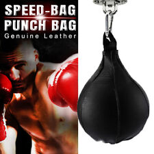 New Leather Boxing Speed Ball Punching Bag With Swivel Training MMA Speed Ball
