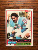 1981 Topps #450 Robert Brazile Football Card Houston Oilers AFC All Pro Raw