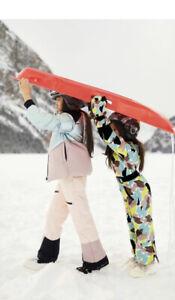 ZARA GIRLS WATER REPELLENT PADDED SNOW JUMPSUIT GREEN SZ 9 BNWT