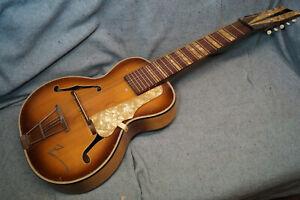 10-saitige (!) Lap Steel-Gitarre in Jazzgitarren-Form, tobacco sunburst