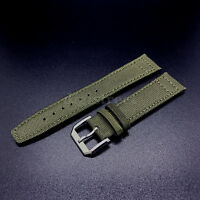 New Canvas Leather Band Strap+18mm Buckle for IWC Pilot Top Gun Portuguese Watch