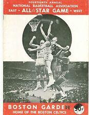 1964 NBA All Star Game East West Program Boston Garden GOOD Condition RARE