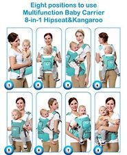 Multifunctional Baby Carrier 8 in 1 Hip Seat & Kangaroo Front & Back 8 position