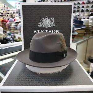 STETSON TEMPLE CARIBOU  FUR FELT FEDORA DRESS HAT