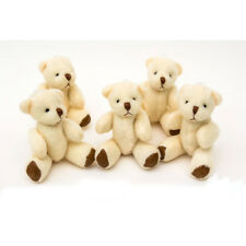 NEW - 10 X White Teddy Bears - Small Cute Cuddly Adorable - Gift Present