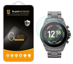 3X Supershieldz Tempered Glass Screen Protector for Fossil Men's Gen 6 44mm