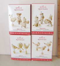 ~12 LITTLE DAYS OF CHRISTMAS~2016 HALLMARK MINIATURE ORNAMENTS~ALL 4 SETS~