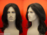 Michael Jackson Style Medium Straight Brunette Costume Men Wig