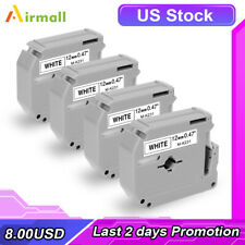 4pack M K231 Mk231 Replace Brother P Touch M Tape M231 Black On White 12mm Pt 70