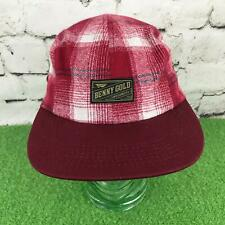 80ab9b792ac7c Benny Gold Mens One Sz Hat Red Flannel Plaid Strapback 5-Panel Cotton Ball  Cap