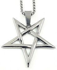 Inverted Pentagram / Pentacle - Stainless Steel (316L)