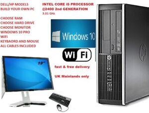 DELL/HP CORE i5  PC COMPUTER 16GB 1TB HDD 120GB SSD WINDOWS 10 PRO FREE DELIVERY