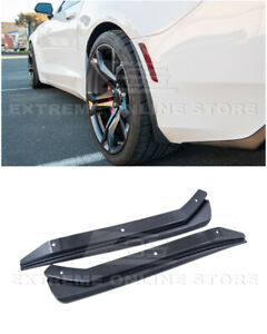 For 16-Up Camaro GM Extended Style TEXTURE BLACK Rear Splash Guards Mud Flaps