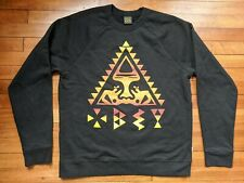 Men's VTG Obey Black Crewneck Sweatshirt Size Large Andre Sun Native Triangle